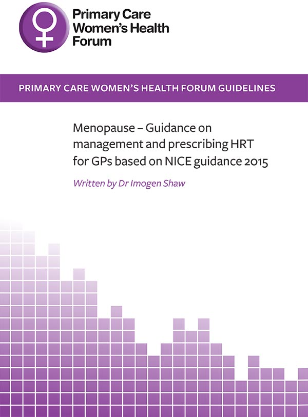 Guidance on management and prescribing HRT for GPs based on