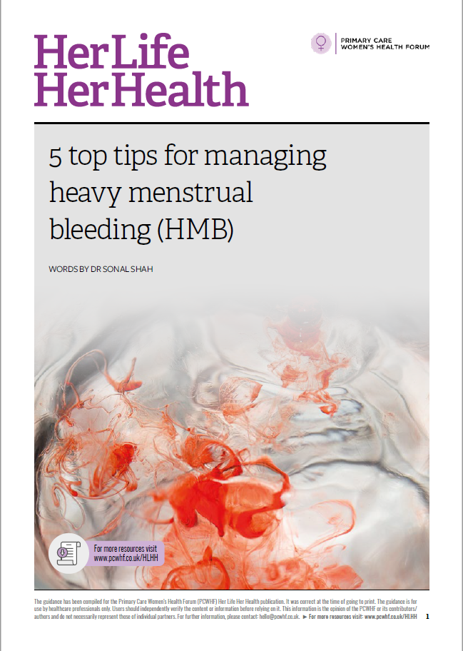 Top tips for managing heavy menstrual bleeding
