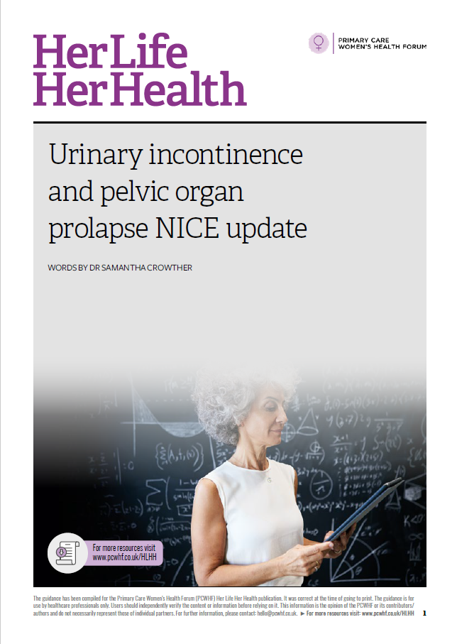 NICE guidance on urinary incontinence and pelvic organ prolapse