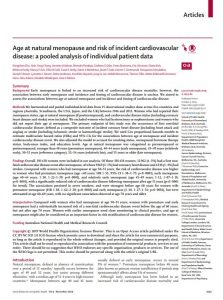 early menopause and cardiovascular disease
