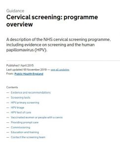 Cervical screening programme overview