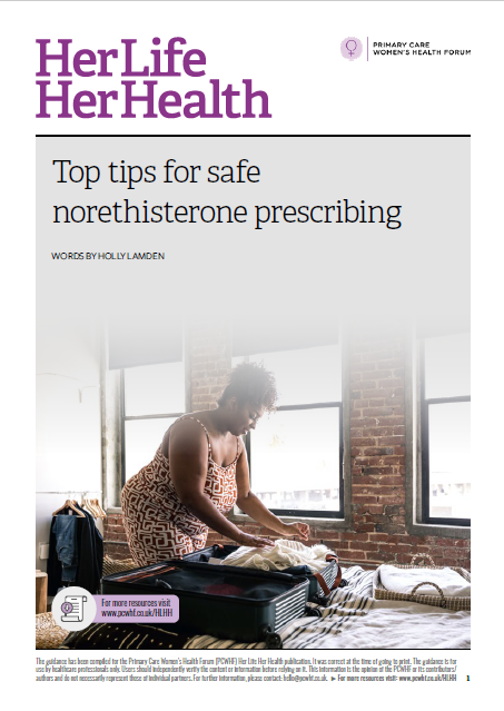 Her Life, Her Health 2 top tips for safe norethisterone prescribing cover