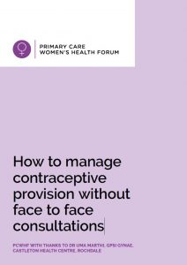 How to manage contraceptive provision without face to face consultations