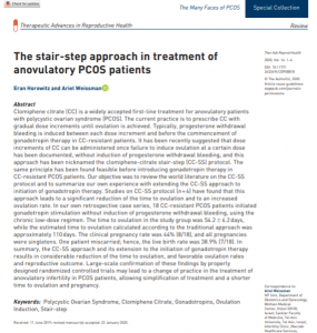 Stair-step approach in treatment of anovulatory PCOS patients