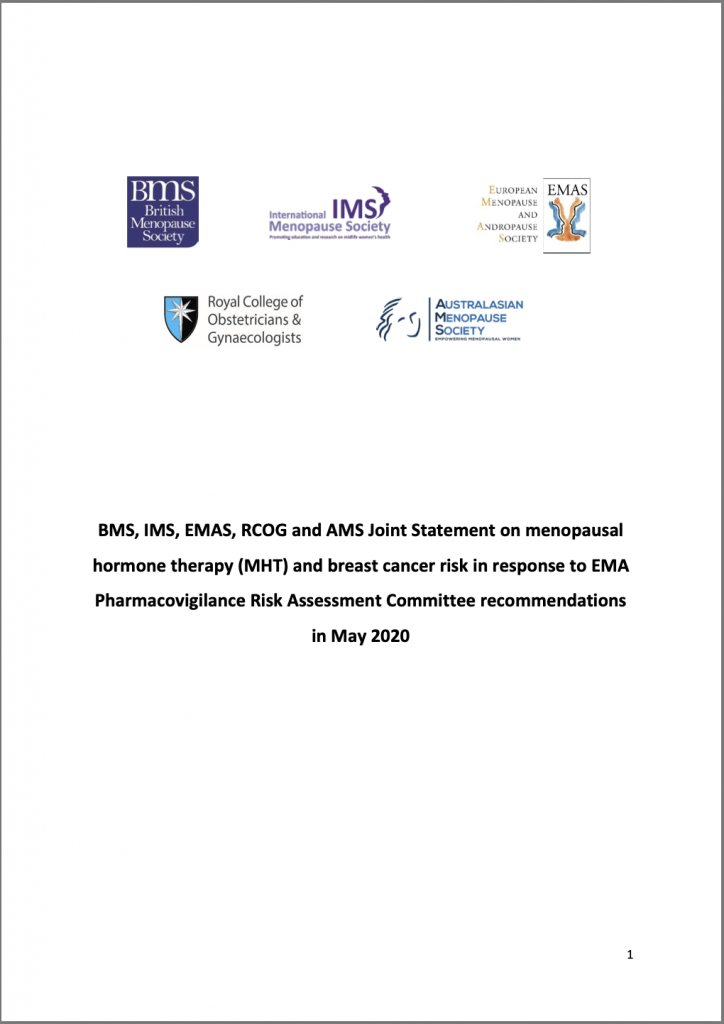 Joint Statement on MHT and breast cancer risk
