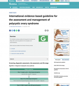 International evidence-based guideline for the assessment and management of polycystic ovary syndrome