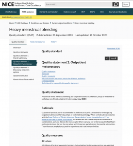 Heavy menstrual bleeding