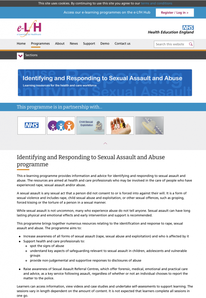 identifying sexual assault abuse elearning