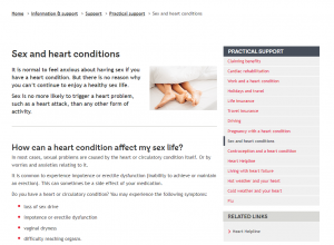 Sex and Heart Conditions